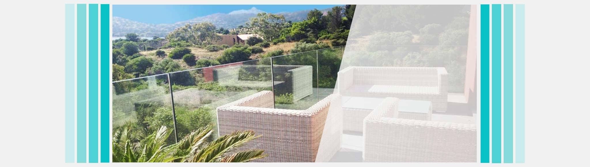 brise vue terrasse en verre cool brise vue en verre. Black Bedroom Furniture Sets. Home Design Ideas